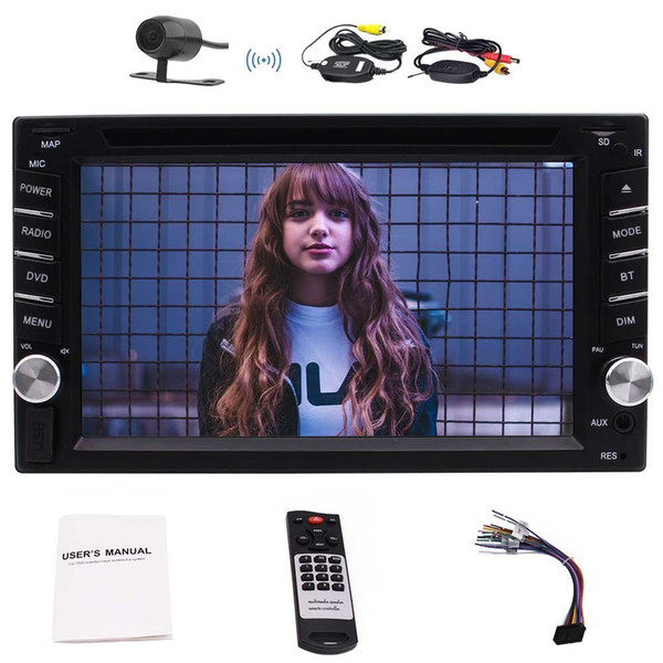 Wireless Camera+Eincar Automotive Double Din Autoradio Car Stereo GPS Navigation Multimedia Headunit In Dash Car DVD CD Electronics Stereo
