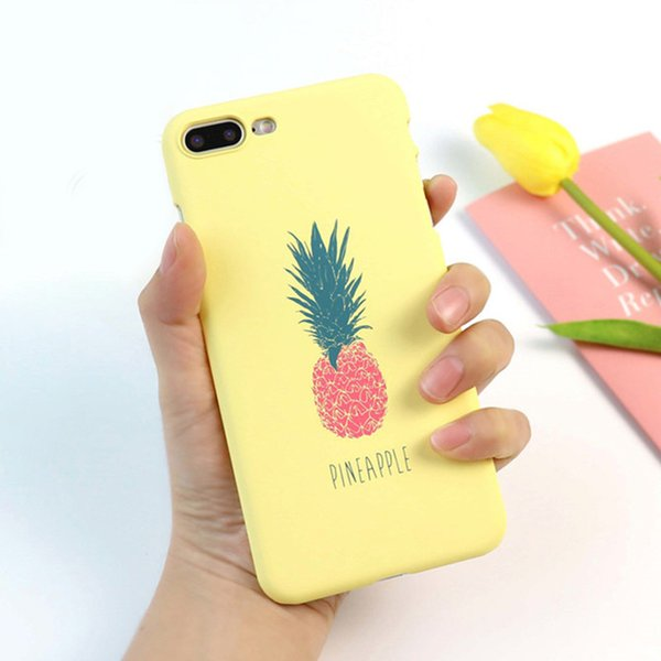 Cartoon Pineapple Phone Case For iphone 6 Case Fashion Hard Ultra thin Cases Cute Letter Back Cover For iphone 6 6S 7 8 Plus X