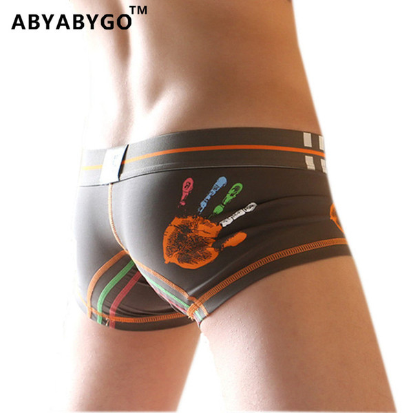 ABYABYGO 3Pcs\Lot New Mens Boxer Brand Cotton Cartoon Mens Panties Boxers Underwear Character Male Plus Size Lovely Cuecas
