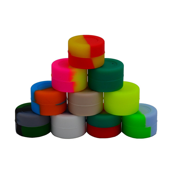 32*15mm Wax Oil Containers 3mL Silicone Jars Wax Cans Concentrate Makeup Tins Storage Bottles Gadgets for Family