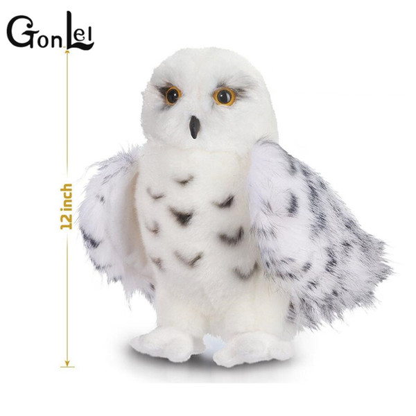 GonLeI Kids Children Adult Lovely Toys Quality Snowy White Plush Hedwig Owl Toy 12 inch tall Adorable Stuffed Animal