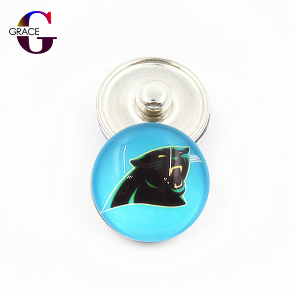 20pcs/lot USA Teams Replaceable Snap Buttons DIY 18mm Glass Football Sports Ginger Snap DIY Jewelry Bracelets&Bangles