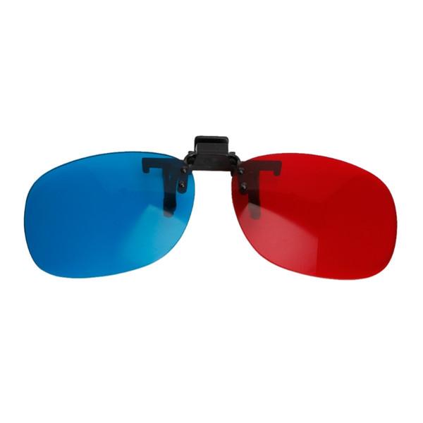 1 STÜCK Neue Rot Blau Kunststoff 3D Brille Hängen Rahmen 3D Brille Myopie Spezielle Stereo Clip Typ