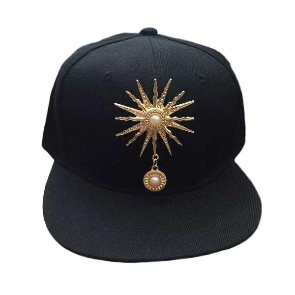 Korean Style Women Men Caps Trendy Sun Rivet Decorations Hip Hop Baseball Caps Hat Fashion Hot Sale