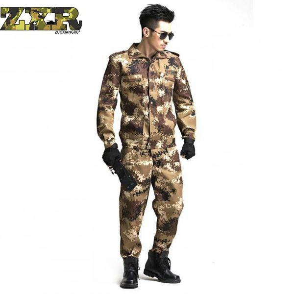 Zuoxiangru Us Army Camouflage Clothes Set Men Tattici Soldati Combat Jacket Suit Multicam Camo Uniforme Abbigliamento