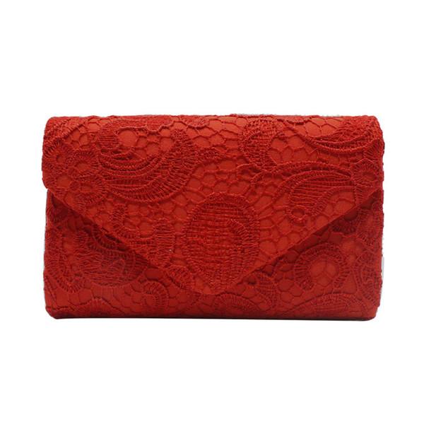 Women's Elegant Floral Lace Envelope Clutch Evening Prom Handbag Purse Wedding Party Clutch Shoulder Bag High Quality Handbag