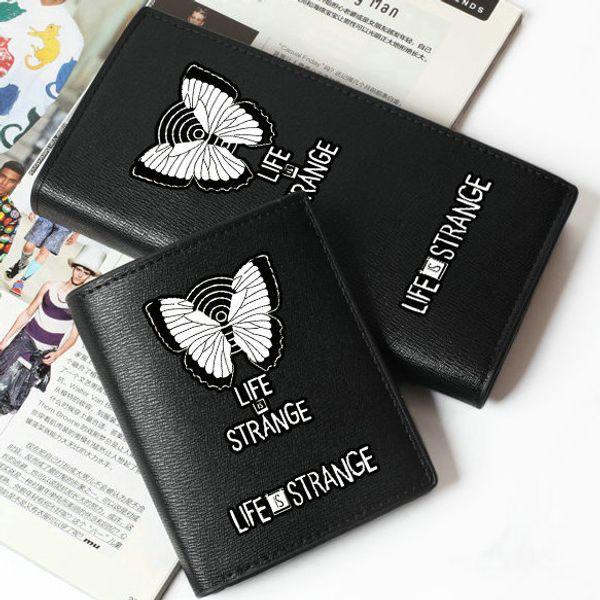 Das Leben ist seltsam Brieftasche Whatif Geldbörse Spiel kurz lang Leder Geldscheintasche Geld Notizblock Loose Change Burse Tasche Kartenhalter