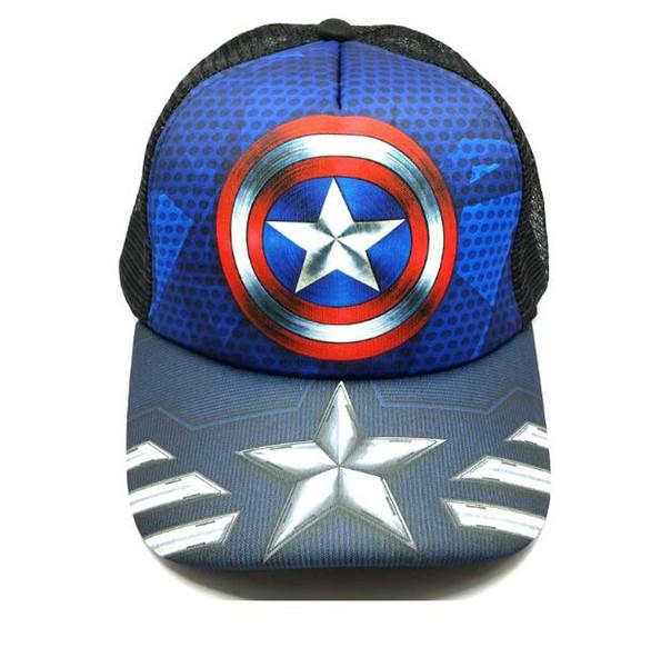 MARVEL COMICS Captain America Embroidered Adjustable Cap Blue