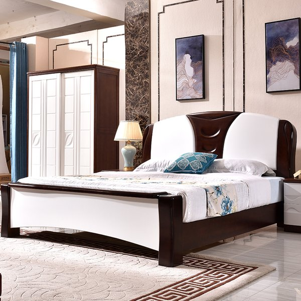 2019 Modern Minimalist Solid Oak Bed Master Bedroom High Quality Double Bed Economy Small Apartment 1800mm Suite From Xuanhuijiaju 54272