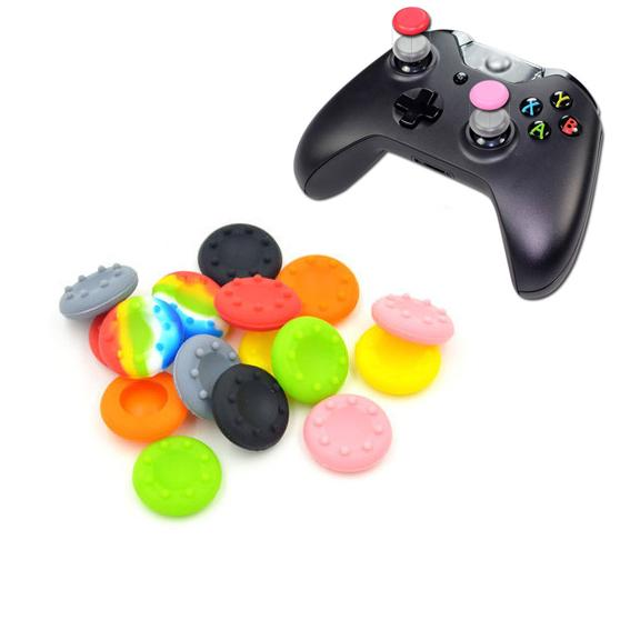Silicone Analog Thumb Stick Grips Cover for PS4 Pro Slim for XBox One Elite X S Controller Thumbsticks Caps