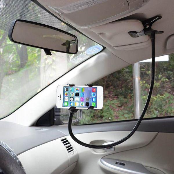 Universal Car 360 Degree Rotating Flexible Clip-on Holder Mount Kit Hands Free Gooseneck Mount for Phone Tablet XXM8