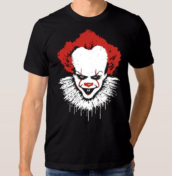 Camiseta Pennywise Scarry Clown Stephen King 'it' Camiseta para hombre 2018 Nueva camiseta 100% de algodón de calidad superior Camisetas Hipster O - Cuello