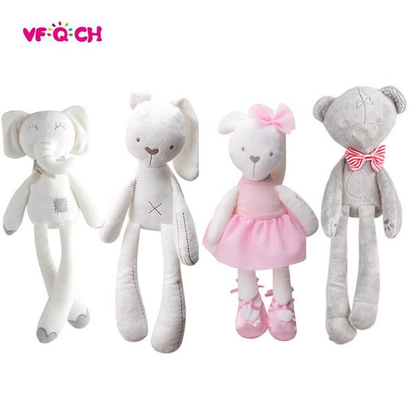 New Style Plush Stuffed Cute Appease Rabbit Bear Animal Toys Infant Baby Comfort Dolls For Children Kids Birthday Pretty Gift