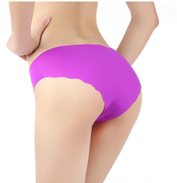 Dame Sexy Seamless Briefs Frauen Keine Spur Rüschen Niedrige Taille Unterwäsche Ultradünne Breathable Comfort Panties Lady Clothing Kostenloser Versand
