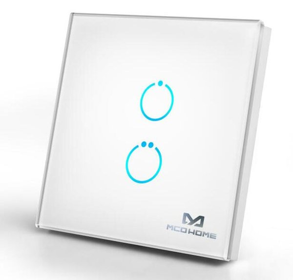 Home usato Zwave plus pannello interruttori on / off touch MCO Home Glass Touch Switch (2 pulsanti)