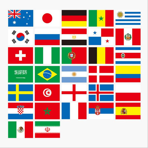 Russian World Cup 32 Team flag String flags Country World Banner Bunting bar home party decoration BBA28