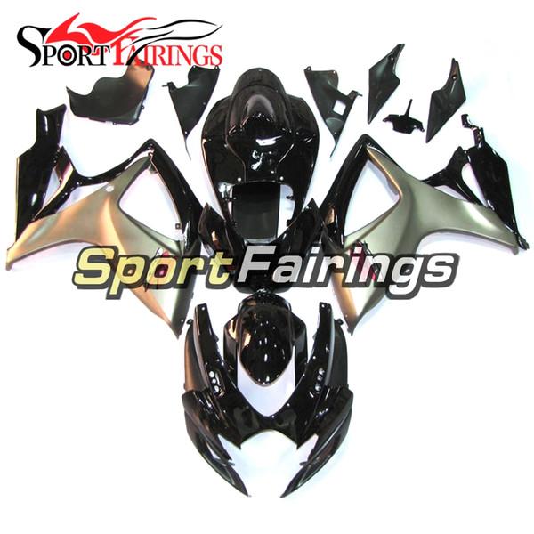 Ajuste para Suzuki GSXR600-750 K6 2006 - 2007 Nuevos carenados de la motocicleta de Gray Black Carenados completos Carenado de la motocicleta de la inyección del ABS
