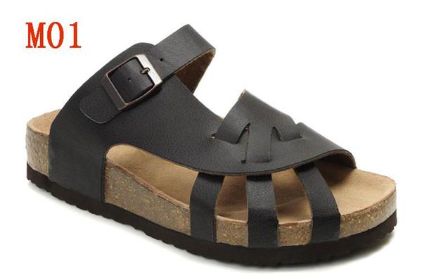 87a83fb3ec30c Men and women Open Toe Cork Sandals,Summer Beach Slippers Genuine Leather  Flats Original flip