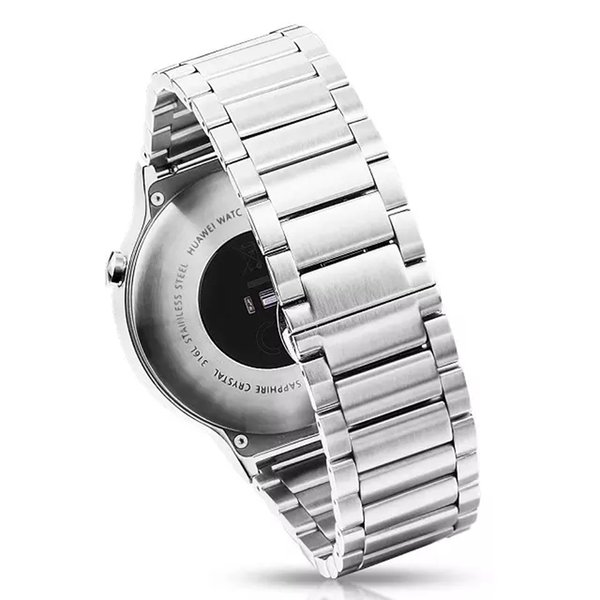 Stainless Steel 18mm Watch Band Strap Replacement for Huawei Watch 1 Men's Wristwatch Belt Metal Link Chain Band I67.