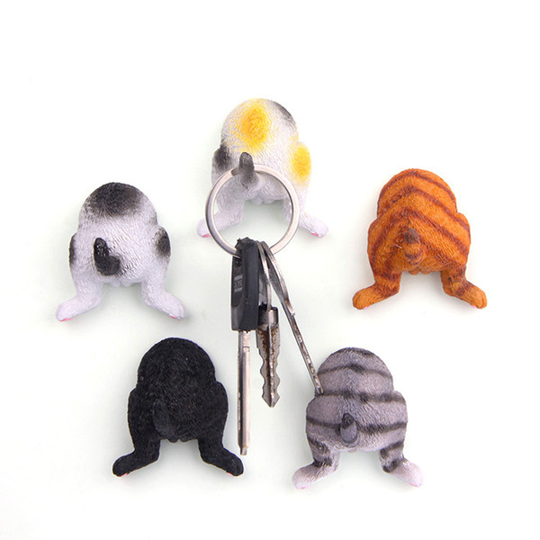 5pcs/lot Cartoon Japanese Pet Dog Ass Fridge Magnet Kid Early Education Animal Magnetic Key Hook For Kids Phone Case Resin Figure Sticker