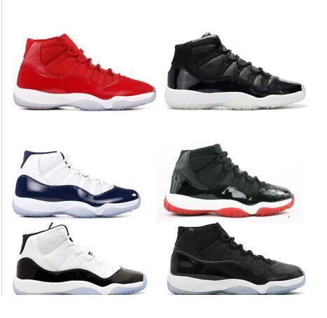 With Box + 2018 Legend Blue Basketball Shoes11s Good Quality Sports Shoes Bigkids Trainers Athletics Boots 11s Sneakers fr 36-47