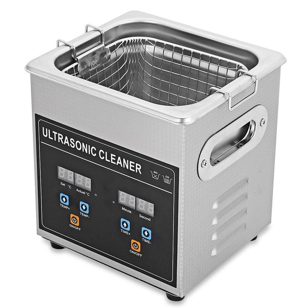 Portable Mini 2L Digital Ultrasonic Cleaner Machine With Heater Timer Cleaning Jewelry False Tooth Shaver Nail Tools TB
