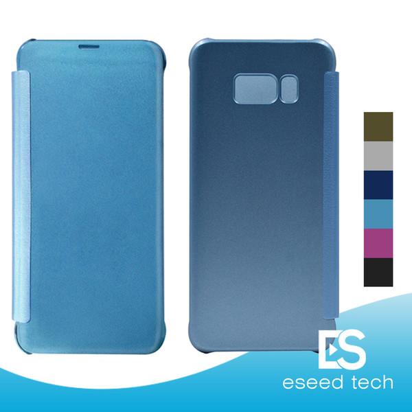 Pour Galaxy S10 et S9 PLUS S8 Plus Note 8 S7 EDGE Coques S6 Edge et S6 Edge Plus, J7 prime, miroir.