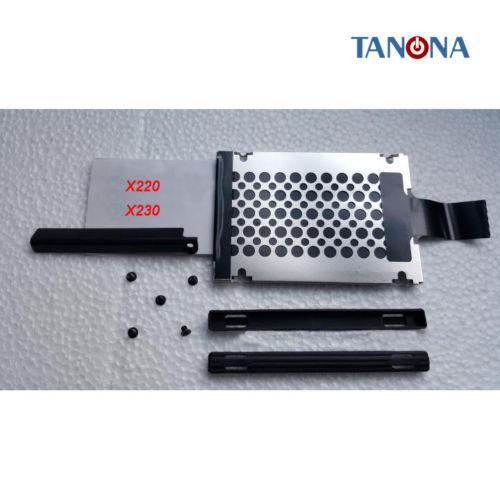 Nuevo para Lenovo Thinkpad X220 X220I X230 HDD Disco duro Cubierta Caddy Rails tornillos Conjunto