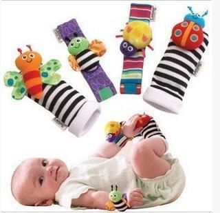 Baby socks Rattle Socks sozzy Wrist rattle & foot finder Baby toys Lamaze Wrist Rattle+Foot