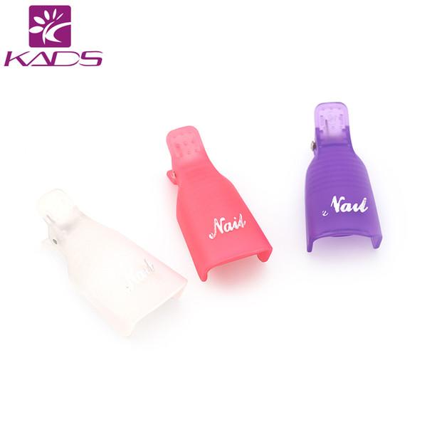KADS 10pcs/set Without Package Plastic Nail Tool Acrylic Nail Art Soak Off UV Gel Polish Remover Wrap Clip Cap Product