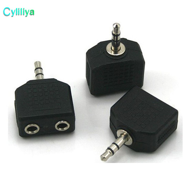 top popular Hot sale 3.5mm Jack 1 to 2 Double Earphone Headphone Y Splitter Cable Adapter Plug For computer for phone for MP3 2021