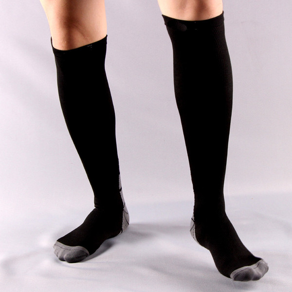Men&women Compression Socks Pressure Circulation by Best For Flight Travel-Suits Nurses Anti-Fatigu Knee High Support Stocking free shipping