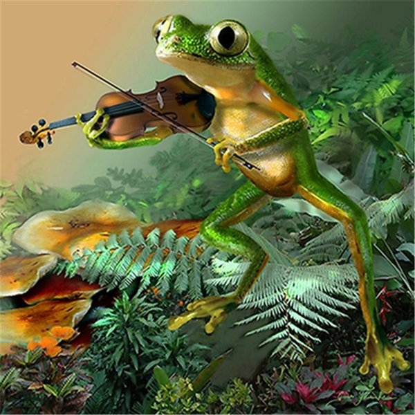 5D Diy diamond painting, diamond embroidery, home decoration, crafts, mosaic, cross stitch, landscape, frog, portable piano