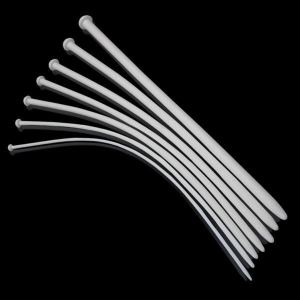7pc / lot Longue 350mm Silicone Uretral Sonore Pénis Plug Sonnant Plug Uretral Cathéter Adulte Jeu Sex Toys Pour Hommes