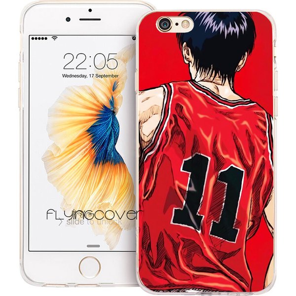 Slam Dunk Clear Soft TPU Silicone Fundas Shell Cases for iPhone 10 X 7 8 Plus 5S 5 SE 6 6S Plus 5C 4S 4 iPod Touch 6 5 Cover.