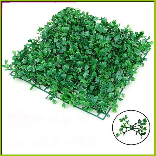Nuovo 25 * 25 cm prato artificiale piante tappeto erboso artificiale prati prato decorazione del giardino ornamenti casa di plastica turf t2i131