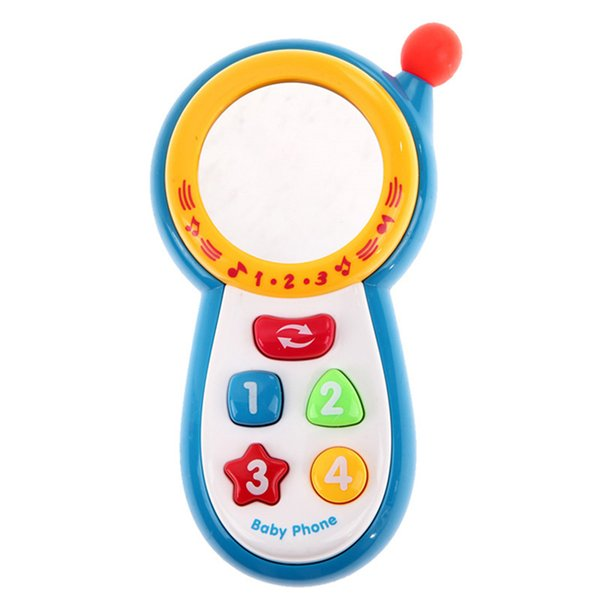Musical Phone Toy Sound Learning Study Educational Vocal Toys for Toddler Baby Kids Simulation Plastic Electronic Cell Phone P20