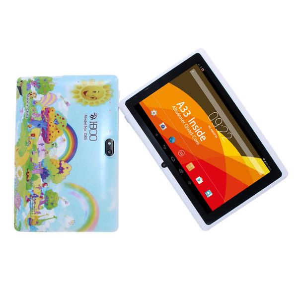 Glavey Android 4.4 7 pulgadas quad core 1GB + 8GB Allwinner A33 sensor blanco tablet pc cámara dual WIFI 1024 x 600 2800mAh