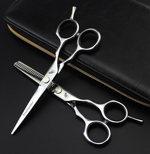 2018 6.0 inch Japan 440C Professional Hairdressing Scissors Barber Cutting Scissors Thinning Scissors Hair Shear Tools
