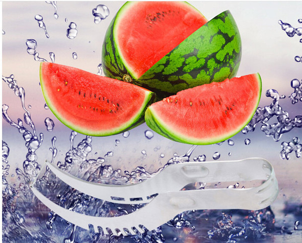 Watermelon Slicer & Server, Perfect Stainless Steel Fruit Cutter and Corer, Easily Slices Cantaloupe To Scoop ,Kitchen Gadget