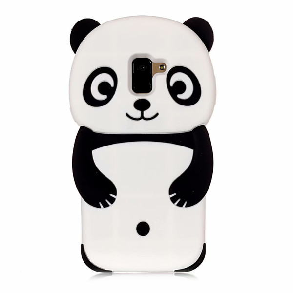 For iphone XR XS MAX 3D Panda Soft Silicone Case For Huawei P20 Lite Plus Pro Galaxy S9 A8 2018 Stereo Bear Cartoon Phone Covers Luxury Cute