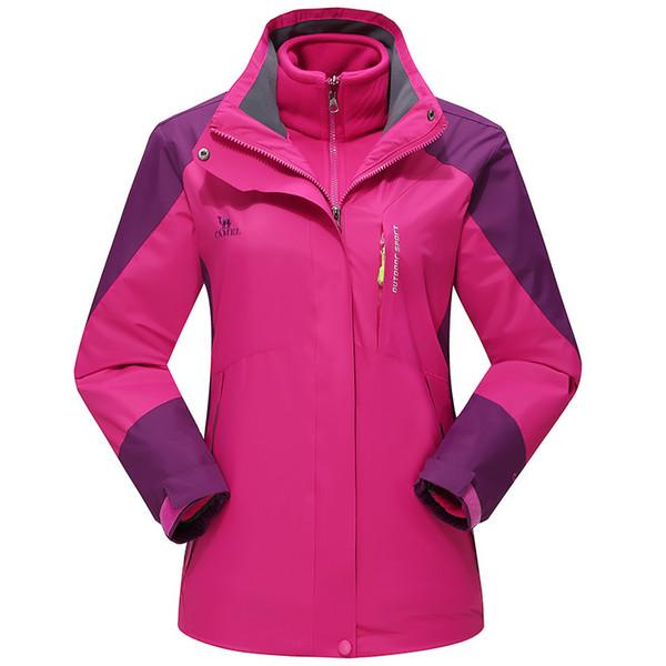 Mountainskin Women's Winter 2 pieces Softshell Fleece Jackets Outdoor Sports Waterproof Thermal Hiking Skiing Coats Cycling Jacket 2018