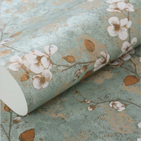 Modern Blossom 3D Embossed Wall Paper Roll 3D Stereo Pink Floral Wallpapers for Bedroom Small Flower Blue Wedding Room Wallpapers
