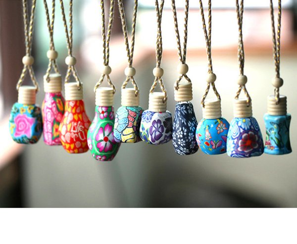 best selling Multi Colors Hanging Car Air Freshener Perfume Diffuser Fragrance Empty Refillable Bottle Home Car Air Purifier Hanging Ornament Decoration