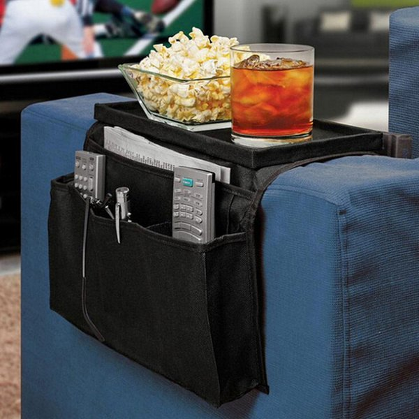 6 Pockets Sofa Handrail Storage Bag Couch Armrest Arm Rest Organizer Remote Control Holder Bag Organizer