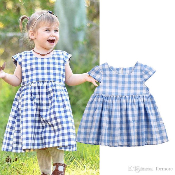 Summer Newborns children clothing baby girls clothes cotton short sleeve infant girl party dress toddler cute baby dresses 0-3T