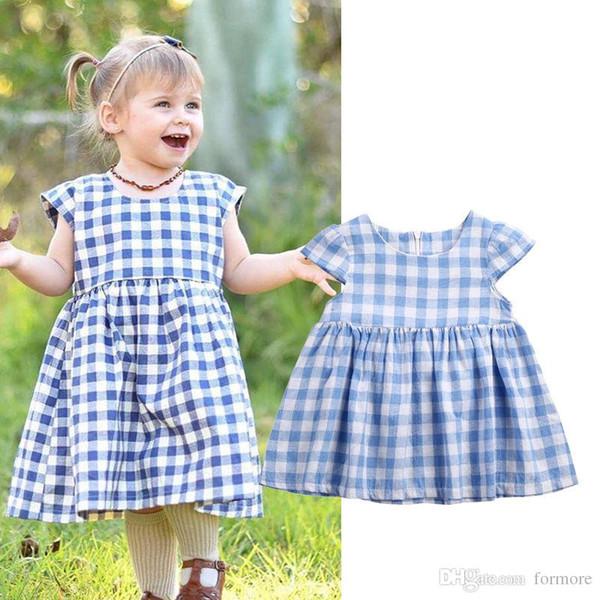 Summer Newborns enfants vêtements bébé filles vêtements coton manches courtes infantile fille robe de soirée bambin mignon bébé robes 0-3T