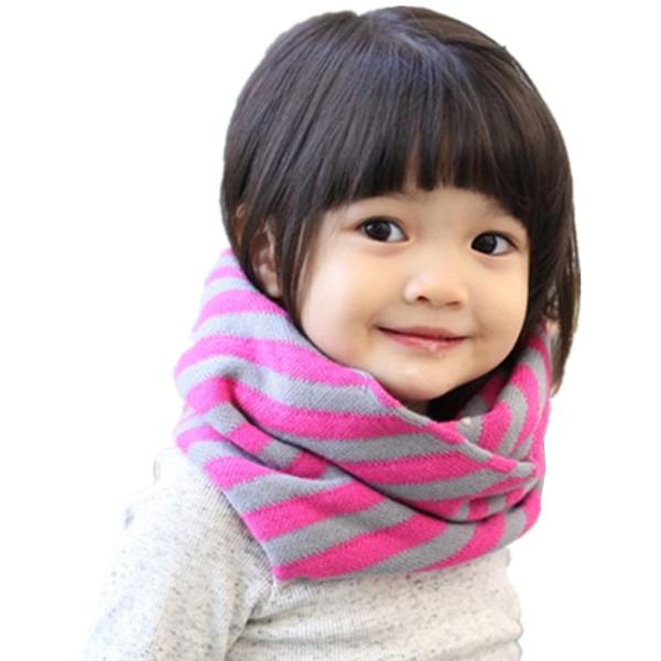 Fashion Baby Cotton Striped Scarf Children Winter Warm Comfortable Scarf For Kids O-Scarf Boys Girls Neck Warmer Bufandas