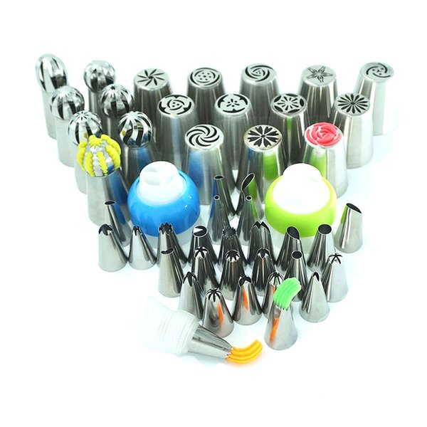 ool shaped cake pan 49pcs/Set Stainless Steel Pastry Nozzles Cake Decorating Tools Russian Tips Icing Piping Pastry Tips Confectionery Cu...