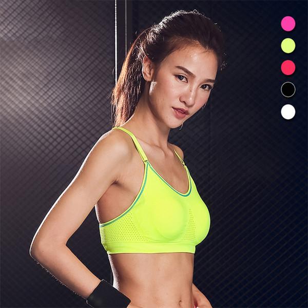 b21f479b06296 Adjustable Strap Sports Underwear Shock-proof Breathable Mesh Yoga Fitness  Female Running Yoga Top Sports